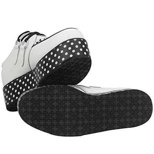 Tuk White Dot While Shoes Wraps Ladies Yo Creeper Polka gfW7wqgAan