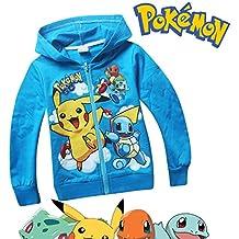 Pokemon Long Sleeve Front Zip Hoodie Sweater Jacket Coat