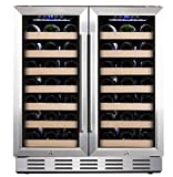 Kalamera 30'' Wine Cooler 66 Bottle Dual Zone Built-In & Freestanding Deal (Small Image)