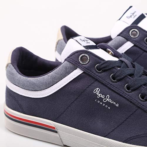 North Pepe 43 Navy Blu Per Uomo Sneaker Jeans Pms30530 HRq5RO