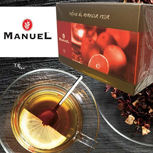Blood Orange Tea With Hibiscus, Rosehip, Cinnamon, Elderberries - Tea By Manuel Italy. Favorite Hot Tea Bags 20 Counts. Full Of Antioxidants To Boost Immune System. More Flavors In Our Amazon Store.