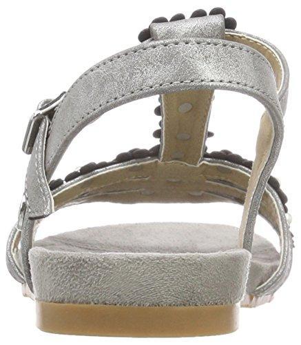 Tom Tailor Women's 4892207 T-Bar Sandals Silver (Silver) 0RrB0jKUx