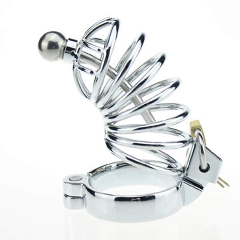 SYXL Dispositivos de castidad Jaula de castidad castidad castidad Protección contra derramamiento Penis Cage Juguetes sexuales Metal Aleación de Zinc (Tamaño : 45mm) 882378