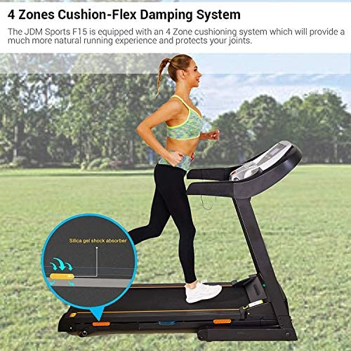 Treadmills for Home with Incline,Treadmill 200-300 Lbs Max Weight Capacity,Folding Treadmill Machine for Walking Jogging with Bluetooth App SupportRunning Machine 2.25HP with 12 Programs 2