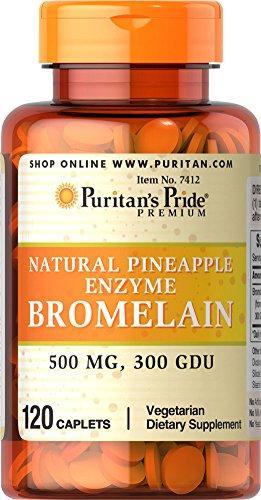 Puritan's Pride Natural Pineapple Enzyme Bromelain Caplets,