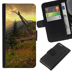 Stuss Case / Funda Carcasa PU de Cuero - Americana Montaña Forrest - Apple Iphone 5C