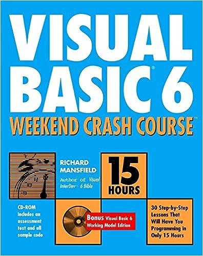 Visual basic | 20 Best Free Ebook Download