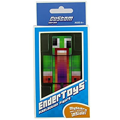 Green Big Mouth Guy Action Figure Toy, 4 Inch Custom Series Figurines by EnderToys [Not an official Minecraft product] by Seus Corp Ltd.