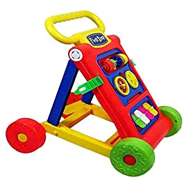 Goyal's Baby Activity Walker – Toddler Learning Toys, 6 Months -1.5 Year (Red)