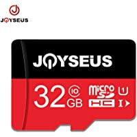 JOYSEUS 32 GB Micro SD Card, SDHC Flash Memory Card, Class 10 High Speed TF Card with Adapter 80MB/S, Compatible for Camera, Phone, Ipad, Vidicon, Dash Camera, Nintendo Swicth, PSP. ect