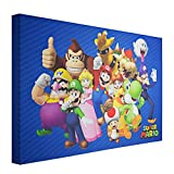 """Crystal Art Licensed Nintendo Super Mario Wrapped Canvas Wall Art 24"""" H x 36"""" L Multicolored"""