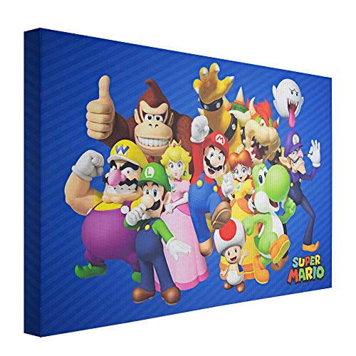 Crystal Art Licensed Nintendo Super Mario Wrapped Canvas Wall Art, 24