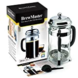 BrewMaster French Press Gourmet Coffee and Tea Maker 34 oz Carafe - 8 Cups