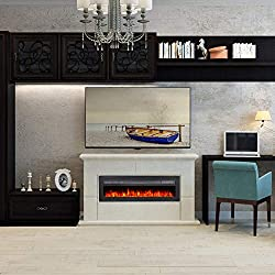 Maxhonor Electric Fireplace Insert Wall Mounted Freestanding Heater with Remote Control, 1500/750W by Maxhonor
