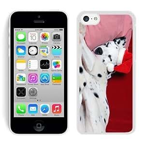 linJUN FENGPopular Sell Design Iphone 5C TPU Case Christmas Dog White iPhone 5C Case 12