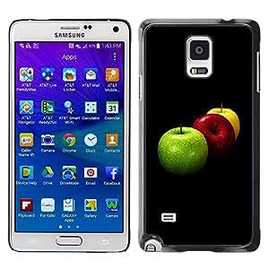 LECELL -- Funda protectora / Cubierta / Piel For Samsung Galaxy Note 4 SM-N910F SM-N910K SM-N910C SM-N910W8 SM-N910U SM-N910 -- Fruit Macro Apples Colors --
