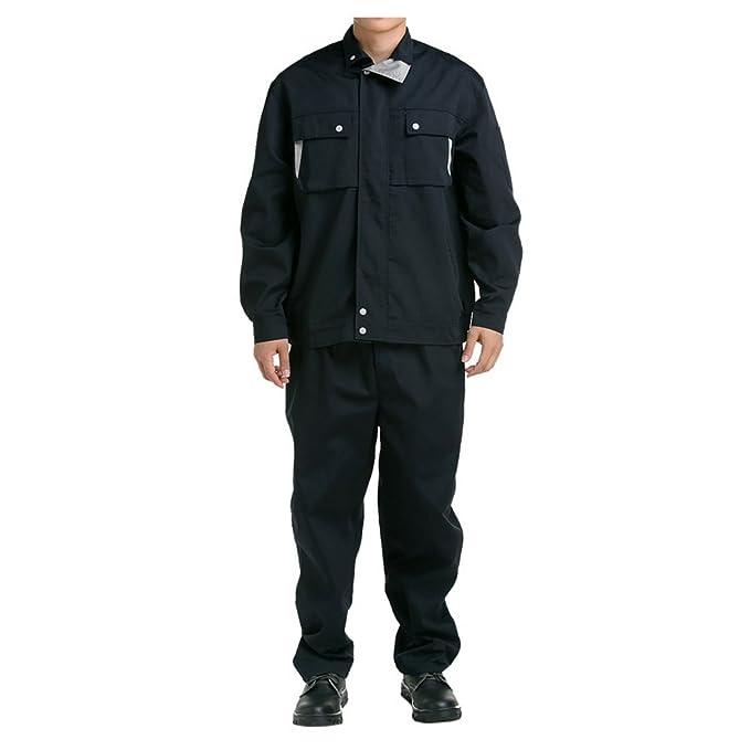 negro con Gris cuello traje chaqueta de trabajo protección uniforme traje chaqueta soldador soldadura soldador ropa 190: Amazon.es: Ropa y accesorios