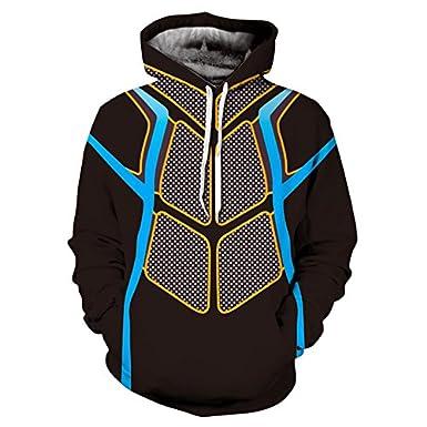 3D Digital Printing Long Sleeved Collar Hoodie Outdoor Sports Jacket