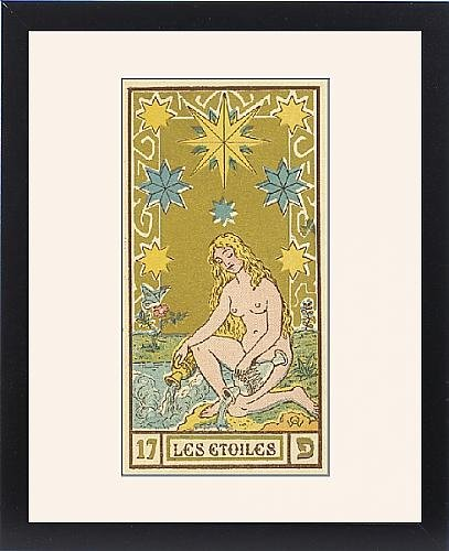 Framed Print of Tarot Card 17 - Les Etoiles (The Stars) by Prints Prints Prints