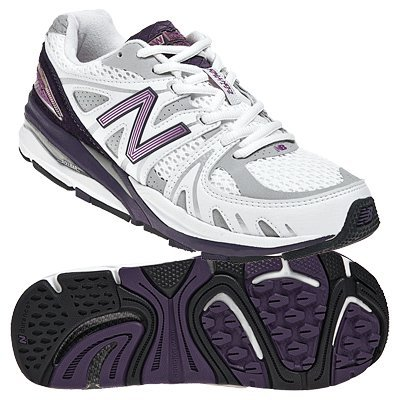 New Balance Women's W1540 Running Shoe,White/Purple,7 D US by New Balance