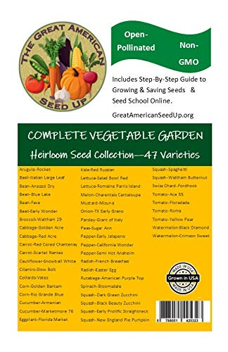 Bulk Vegetable Seeds + Seed School Online Training Course and Food Growing Books & Videos - Seed Up Ultimate Vegetable Garden Collection- 47 Seed Varieties by Great American Seed Up (Image #7)