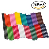 Ewparts 75 Pack 15 Colors Hot Melt Adhesive Gule Stick 70 x 100mm 15 Kinds Multi Color