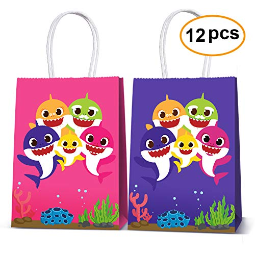 (Cute Shark Party Bags For Baby Birthday Favor Kids Candy Gifts Paper Bag, Well for Girls or)