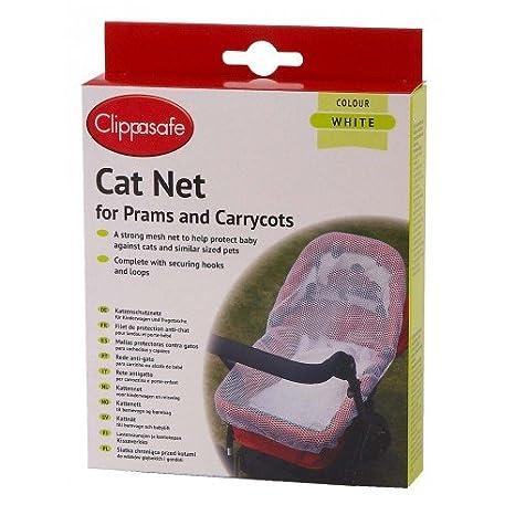 Clippasafe Red de protección anti gato para capazo y puerta bebé (nueva version)