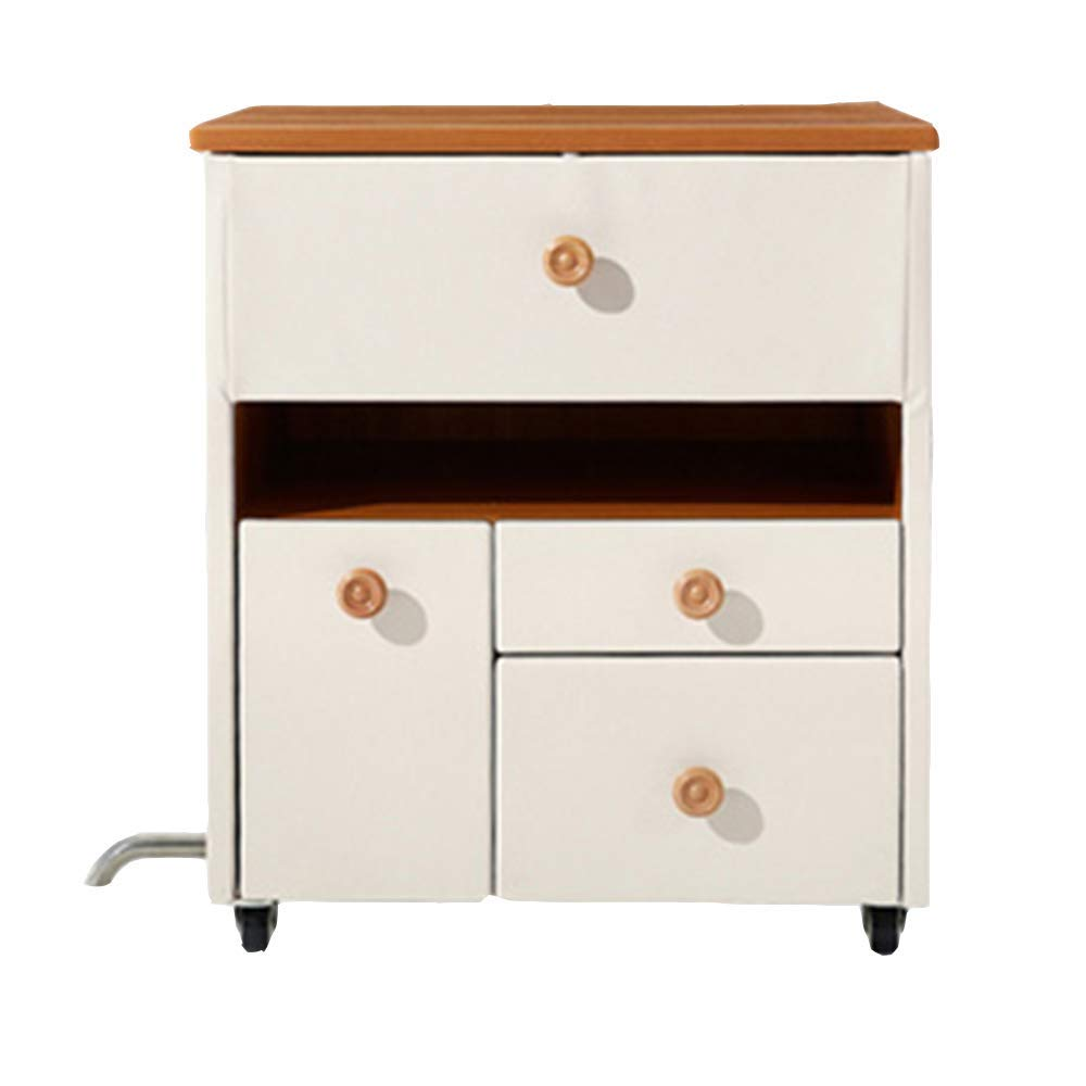 LQQGXLBedside Table White Minimalist Leather Small Bedside Cabinet Storage Cabinet Small Side Table (Color : White) by LQQGXL