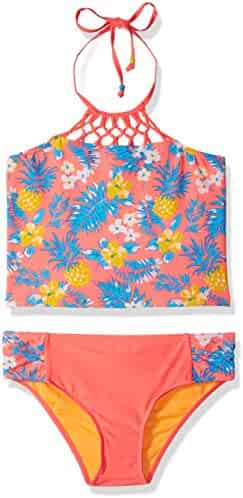 Limited Too Girls' Tropical Pineapple Tankini
