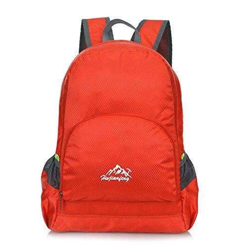 "Fulltime (TM)–al aire libre impermeable BIONIC camuflaje patrón plegable mochila paquete bolsa camuflaje, hombre mujer Infantil, naranja, (10.2 x 16 x 6)"" / (26*40*15)cm rojo"