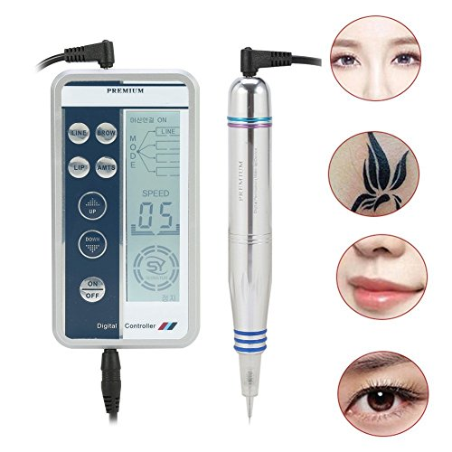 Digital Permanent Tattoo Eyebrow Lip Eye liner Pen Makeup Tattoo Machine Device With Tool Head