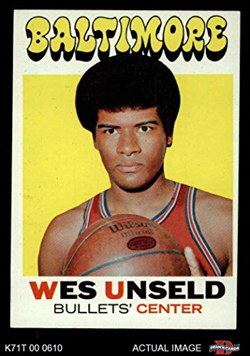 (1971 Topps # 95 Wes Unseld Baltimore Bullets (Wizards) (Basketball Card) Dean's Cards 3 - VG Bullets (Wizards))