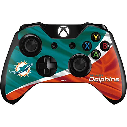 Skinit NFL Miami Dolphins Xbox One Controller Skin - Miami Flag Design Design - Ultra Thin, Lightweight Vinyl Decal Protection by Skinit
