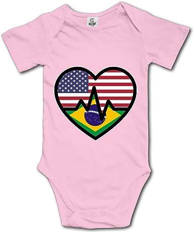 LGBT Rainbow Heartbeat Baby Boys Girls Jumpsuits Short Sleeve Romper Bodysuit Bodysuit Jumpsuit Outfits