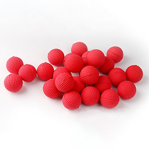 Leegor 50Pcs Bullet Balls Rounds Compatible For Nerf Rival Apollo Child Toy Soft PU Pellet (red)