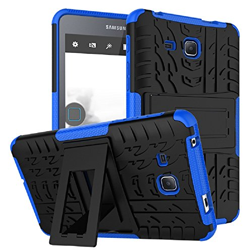Maomi Samsung Galaxy Tab A 7.0 Case 2016 Release (SM-T280/T285),[Kickstand Feature],Shock-Absorption/High Impact Resistant Heavy Duty Armor Defender Case for Samsung Tab A 7 Inch Tablet (Blue) (Galaxy Tab 7 Cases)