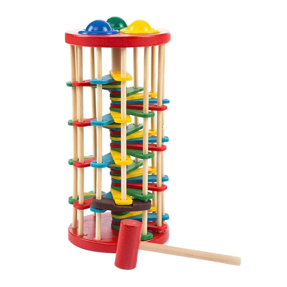 HoneybeeLY Jouet Éducatif Pour Enfants Frappant Le Ballon - Off The Ladder Avec Mallet, Frapper Les Jouets De Balle