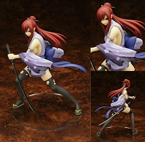 (PampasSK Action & Toy Figures - Fairy Tail 2 Edition Erza Scarlet Doll 1/7 Scale Painted PVC Action Figure Sexy Cute Girl Collectible Model Toys Anime 1 PCs)