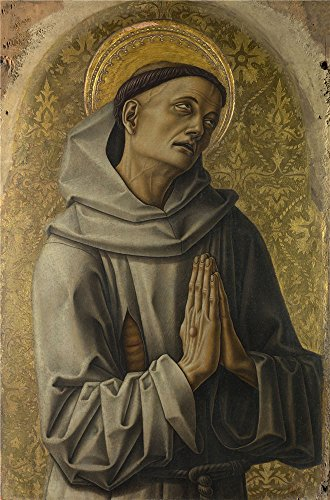 ['Carlo Crivelli Saint Francis ' Oil Painting, 18 X 27 Inch / 46 X 69 Cm ,printed On Polyster Canvas ,this High Definition Art Decorative Prints On Canvas Is Perfectly Suitalbe For Nursery Decoration And Home Decoration And] (Diy Snow Globe Costume)