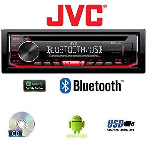 Einbauzubeh/ör Bluetooth USB Autoradio Radio JVC KD-R794BT CD MP3 Spotify Einbauset f/ür Smart ForTwo 450 grau Android JUST SOUND best choice for caraudio