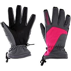 BOODUN Ski Gloves Winter Gloves Snow Gloves SnowBoard Gloves Skiing Gloves Waterproof Gloves for Men Women Warm Outdoor(Pink/Red, L)