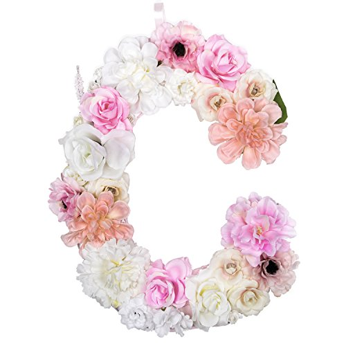Floral Letter (DARONGFENG Artificial Floral Letter for Room Door Wall Decoration (C))