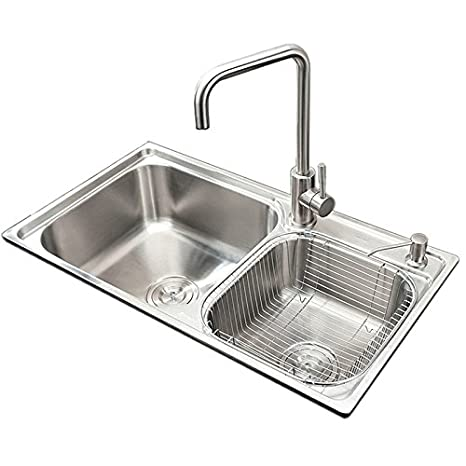 Homelava 304 Stainless Steel Double Bowl Kitchen Sink 28 ...
