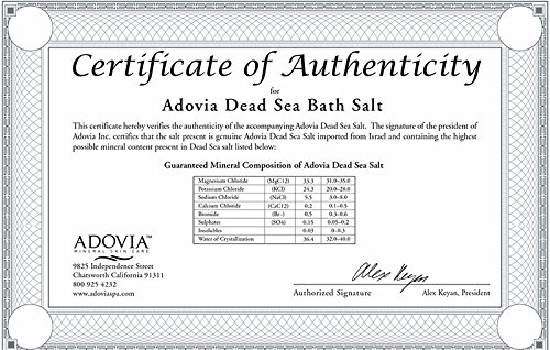 Dead Sea Salt - Pure Dead Sea Bath Salts for Skin Softening Baths and DIY Skin Care Products - Genuine Dead Sea Salts - More Minerals Than Epsom Salt - Fine Grain - 1.75 Pound Resealable Pouch