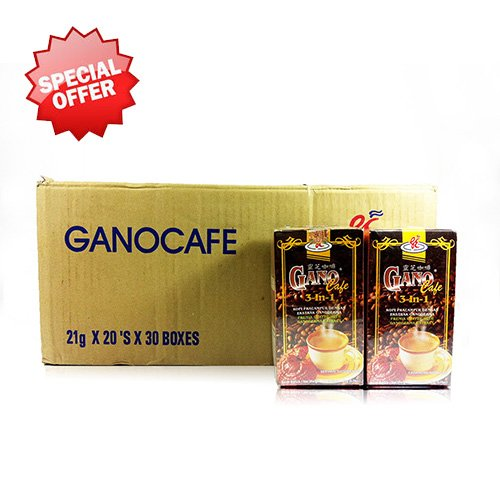 30 Boxes Gano Cafe 3-in-1 By Gano Excel USA Inc. - 600 Sachets