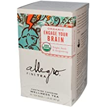 Allegro tea - Organic Engage Your Brian, Wellness Tea, USDA Organic (20 Tea Bags) (Pack of 4)