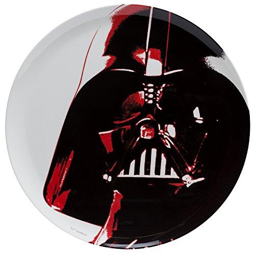 (Zak Designs Star Wars 10in Durable Melamine Plate, Star Wars Ep4 Darth Vader)