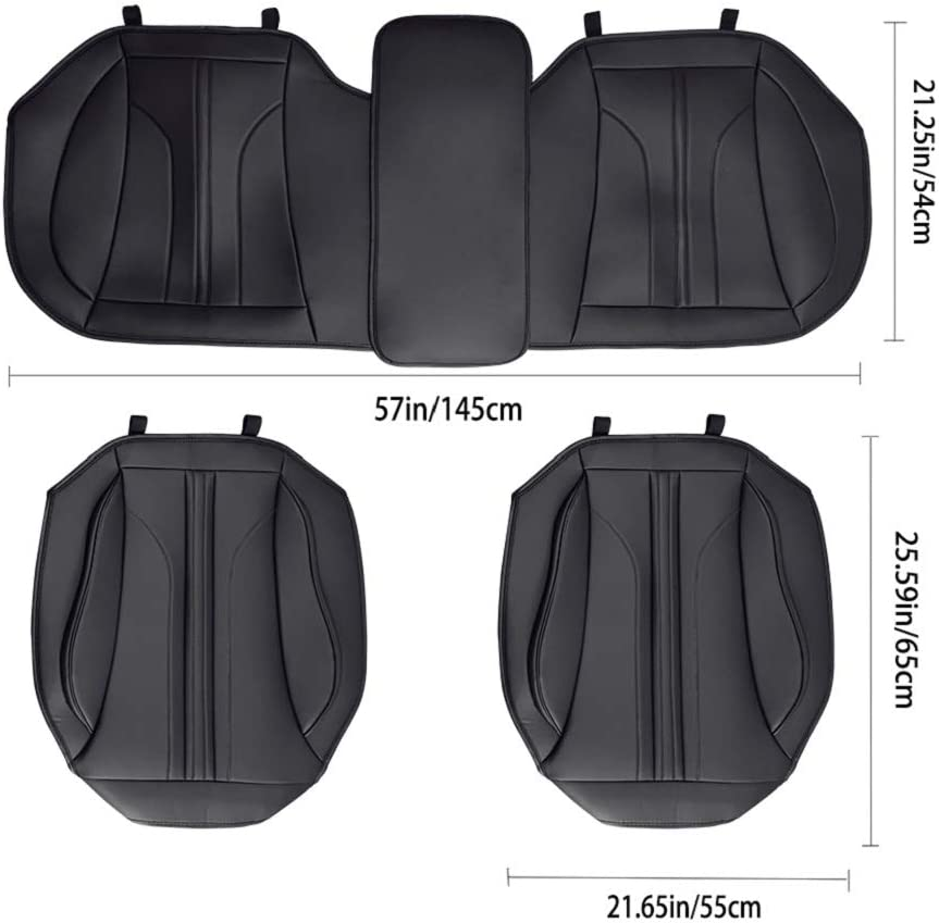 AUTO HIGH Car Seat Cushion Gray Universal Front Car Seat Cover Protector PU Leather Pad Mat for Auto Supplies Office Chair 2PCS