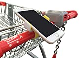 #2: Shopping Cart Cell Phone Holder with Secure Clip - Suits All Phones - Grey Color